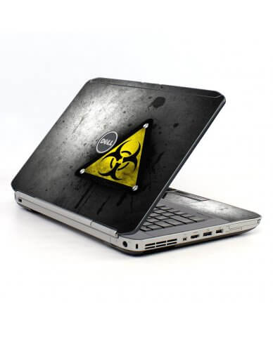 Black Caution Dell E5520 Laptop Skin