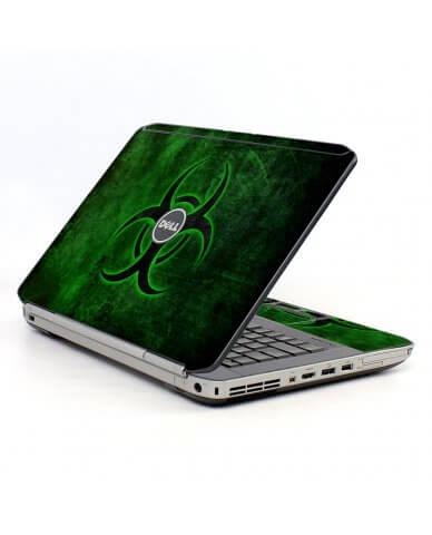 Green Biohazard Dell E5520 Laptop Skin