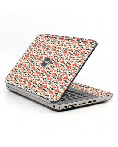 Pink Black Roses Dell E5520 Laptop Skin