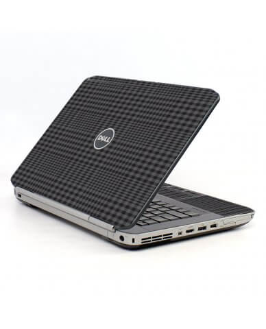 Black Plaid Dell E5530 Laptop Skin