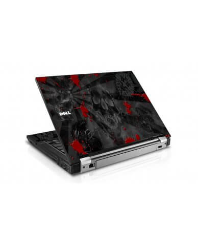 Black Skulls Red Dell E6400 Laptop Skin