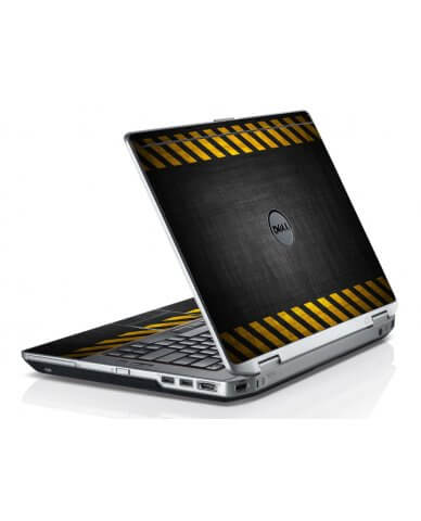 Black Caution Stripes Dell E6420 Laptop Skin