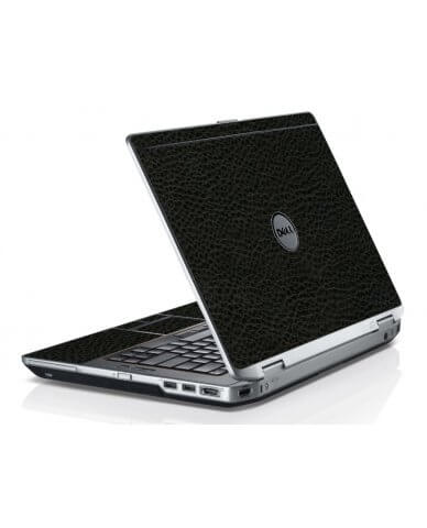 Black Leather Dell E6420 Laptop Skin