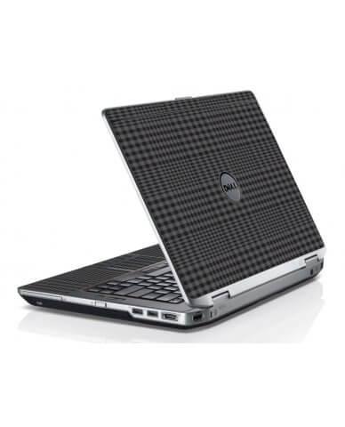 Black Plaid Dell E6420 Laptop Skin