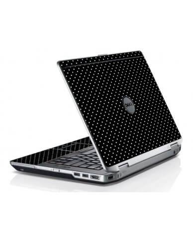 Black Polka Dots Dell E6420 Laptop Skin