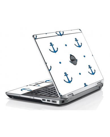Blue Anchors Dell E6420 Laptop Skin