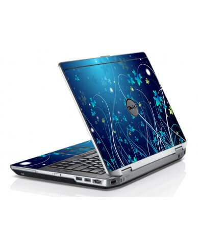 Blue Flowers Dell E6420 Laptop Skin