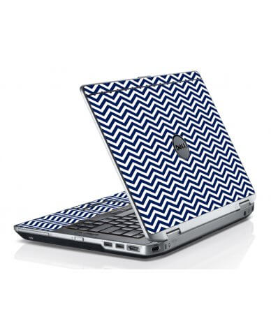 Blue Wavy Chevron Dell E6420 Laptop Skin