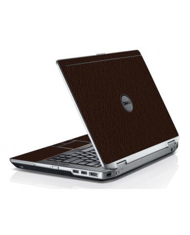 Brown Leather Dell E6420 Laptop Skin