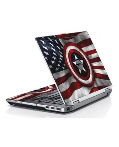 Capt America Flag Dell E6420 Laptop Skin