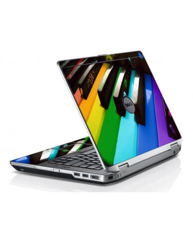 Colorful Piano Dell E6420 Laptop Skin
