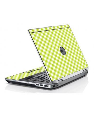 Green Checkered Dell E6420 Laptop Skin