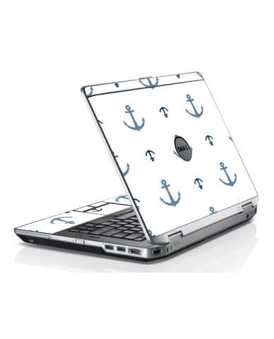 Multi Blue Anchors Dell E6420 Laptop Skin