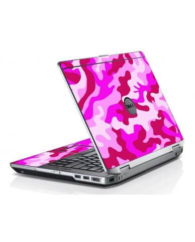 Pink Camo Dell E6420 Laptop Skin