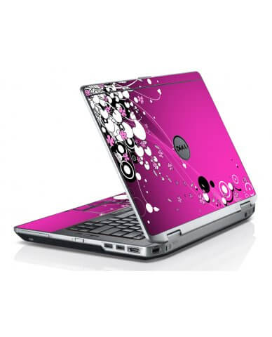 Pink Flowers Dell E6420 Laptop Skin
