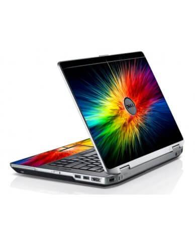 Rainbow Burst Dell E6420 Laptop Skin