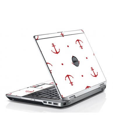 Red Anchors Dell E6420 Laptop Skin