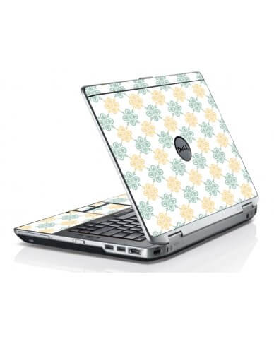 Yellow Green Flowers Dell E6430 Laptop Skin