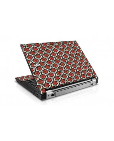 Red Black 5 Dell E6500 Laptop Skin
