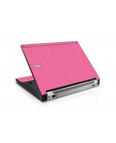 Pink Polka Dot Dell E6510 Laptop Skin