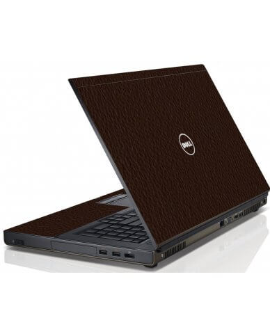Brown Leather Dell M4600 Laptop Skin
