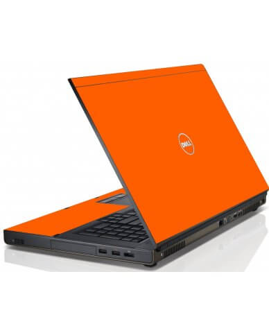 Orange Dell M4600 Laptop Skin