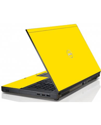 Yellow Dell M4600 Laptop Skin
