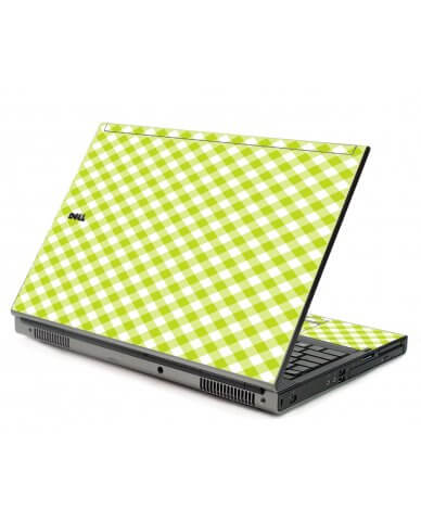 Green Checkered Dell M6400 Laptop Skin