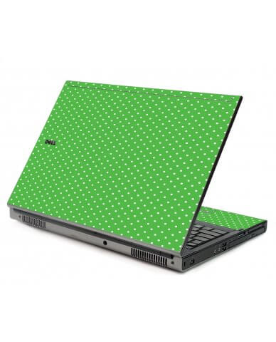 Kelly Green Polka Dell M6400 Laptop Skin