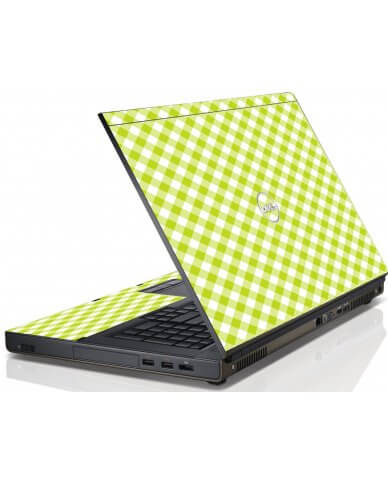 Green Checkered Dell M6600 Laptop Skin