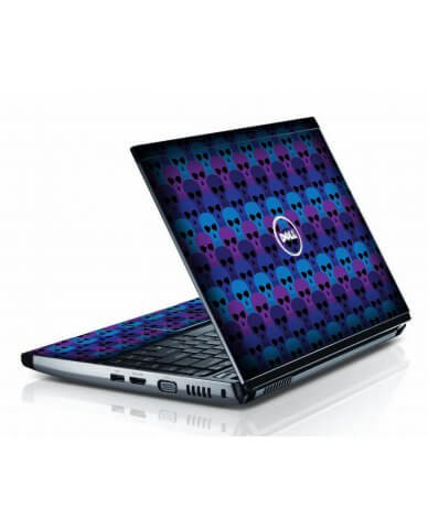 Blue Skulls Dell 3300 Laptop Skin