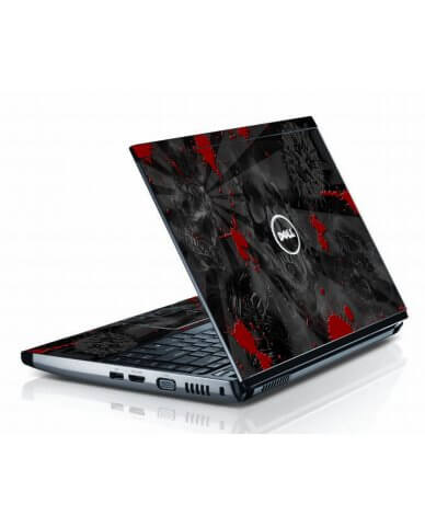 Black Skulls Red Dell 3500 Laptop Skin