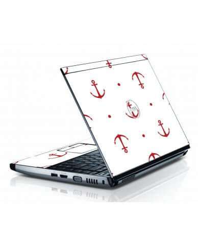 Red Anchors Dell 3500 Laptop Skin