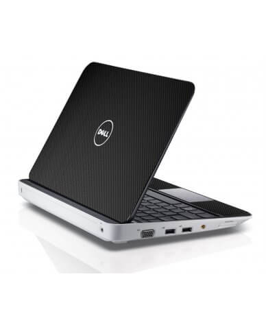BLACK TEXTURED CARBON FIBER Dell Inspiron Mini 10 1012 Skin