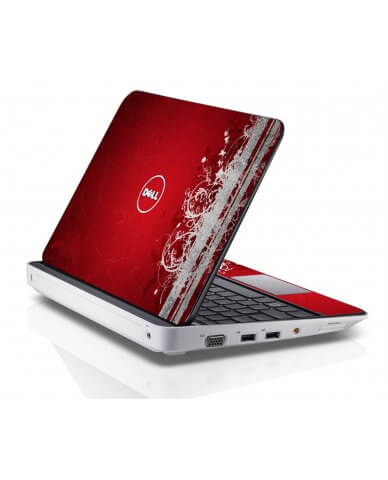 RED GRUNGE Dell Inspiron Mini 10 1012 Skin