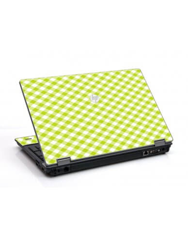 Green Checkered HP ProBook 6455B Laptop Skin