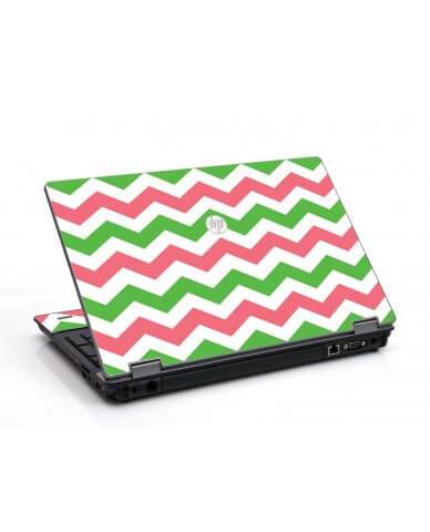 Green Pink Chevron HP ProBook 6455B Laptop Skin