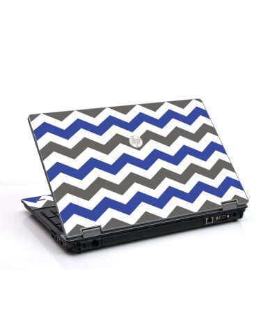 Grey Blue Chevron HP ProBook 6455B Laptop Skin