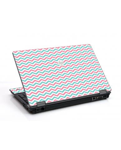 Pink Teal Chevron Waves HP ProBook 6455B Laptop Skin