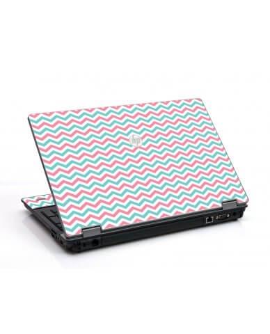 Pink Teal Chevron Waves HP ProBook 6455B Laptop Skin