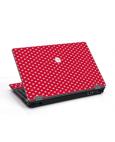 Red White Stars HP ProBook 6455B Laptop Skin
