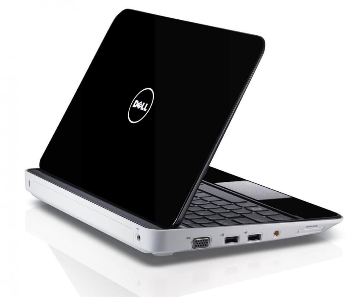 BLACK Dell Inspiron Mini 10 1012 Skin