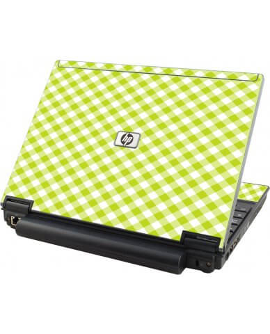 Green Checkered  HP Compaq 2510P Laptop Skin