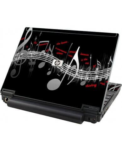 Music Notes HP Compaq 2510P Laptop Skin