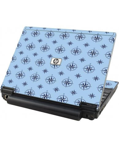 Nautical Blue  HP Compaq 2510P Laptop Skin