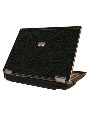 Black Leather HP Elitebook 2530P Laptop Skin