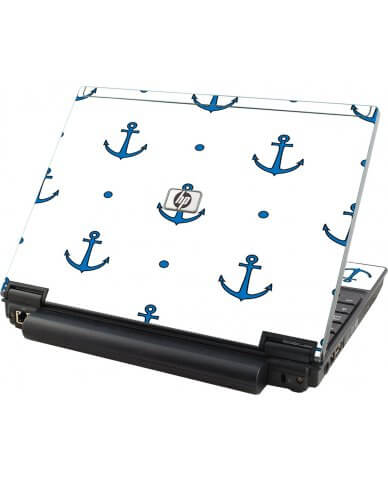 Blue Anchors HP Elitebook 2530P Laptop Skin