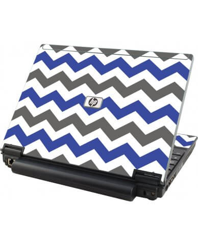 Grey Blue Chevron HP Elitebook 2530P Laptop Skin
