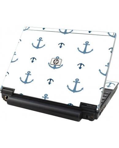 Multi Blue Anchors HP Elitebook 2530P Laptop Skin