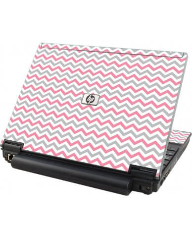 Pink Grey Chevron Waves HP Elitebook 2530P Laptop Skin